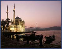 ORTAKOY MOSQUE AND THE FIRST BOSPHORUS BRIDGE, ISTANBUL